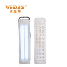 Lumière d'urgence solaire rechargeable en plastique de type plomb avec poignée portable