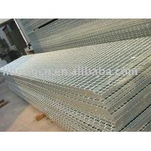 Grille, grille de barres en métal, plancher métallique, passerelle métallique