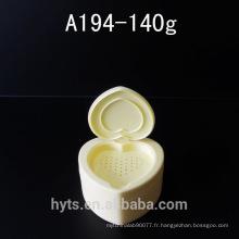 140g en forme de coeur en vrac poudre cosmétique en plastique pot