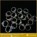 Chine Anneaux uniques de nez d'opale d'acier chirurgical de Piercing de nez de Suppler 316L