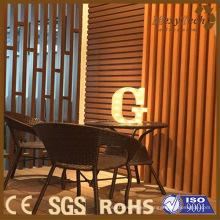 Pantalla de madera compuesta interior para la decoración de la cafetería