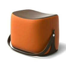 Modern designer leather fancy ottoman stool