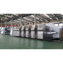 ZXKM2000 HIGH SPEED AUTOMATIC PRINTING  SLOTTING WITH DIE CUTTING CARTON GLUING PRODUCTION LINE
