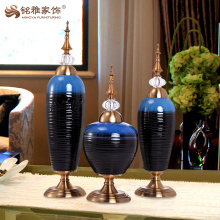 Salle de séjour vase d'émail intérieur pour bureau de table ornements artisanat d'art