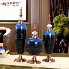 Vaso de esmalte interior de sala de estar para mesa de mesa ornamento artesanato