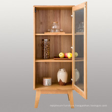 Classical Design Wood Storage Cabinet with Glass Door