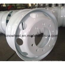 White Finish 22.5X8.25 Bus Steel Wheel and Truck Steel Wheel Rim