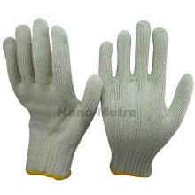 NMSAFETY nature couleur respirant coton tricoté des gants de sécurité