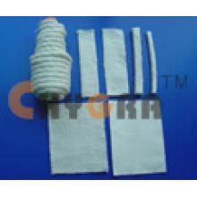 Cerâmica fios fita pano corda