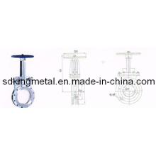 Manual faca de aço fundido válvula de portão 150lbs