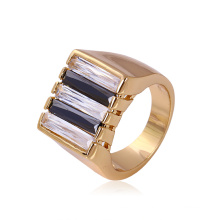 Xuping Neutral Gold-Plated Metal Zircon Ring