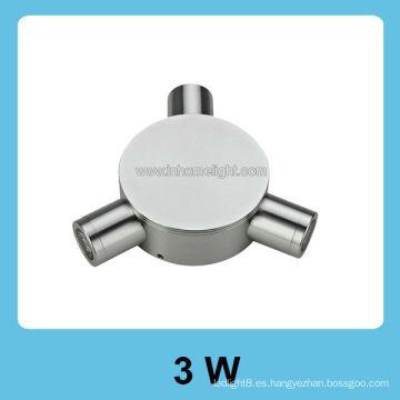 12v 3W pared de alta potencia llevó la luz