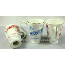 MINI New Bone China Wine Cup avec Golden Lines pour BS140305A