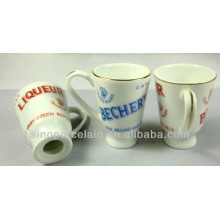 MINI New Bone China Wine Cup with Golden Lines for BS140305A