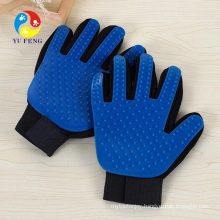 2 in 1 Pet Hair Remover Glove for Furniture Soft Rubber Tips for Massage Efficient Deshedding Brush Glove Hot Selling Eco-Friendly Pet Dog Hair Remover Grooming Glove
