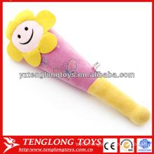 Hot sale smiling face shape stuffed plush knocking stick