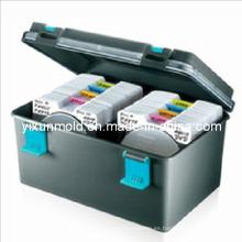 Caja de almacenamiento de CD de plástico Molde de inyección