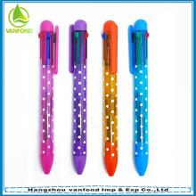 Bolígrafos de tinta de color venta caliente multi plástico para promoción