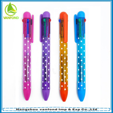 Canetas de tinta de cor de plástico multi de venda quente para promoção