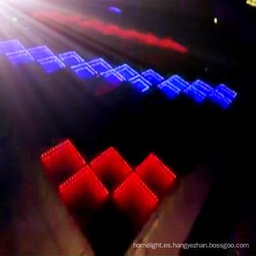 Colorido Tiempo Túnel LED Dance Floor 3D