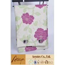 100% poliéster venda quente jacquard novo design flor cortina pacote pp saco e inserir
