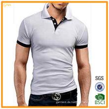 Der Polo-Hemden der heißen Verkaufs-kurzen Hülsen-unbelegten Baumwoll-200GSM Männer