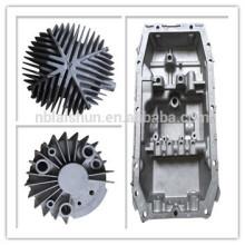 OEM anodise noir pièces en fonte moulée en aluminium dissipateur électronique automobile