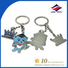 Blue color cartoon cat key chain cute keychain