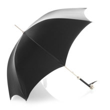 Manual aberto preto Striaght guarda-chuva (BD-52)