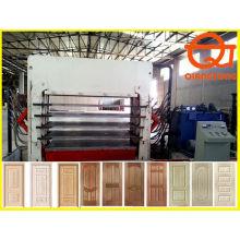 Moldagem porta de madeira máquina de imprensa / 1200tons porta pele quente imprensa / painel de portas fazendo máquina