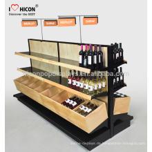 Mit einem Reichtum der Sachkenntnis und Erfahrung für jeden kundenspezifischen Holzpreis Supermarkt Gondel Regale