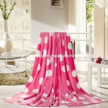 100% Polyester Colorful Coral Fleece Blanket