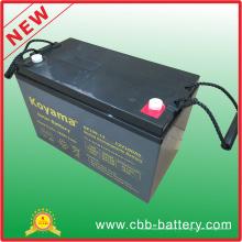 Bateria estacionária acidificada ao chumbo de 12V 100ah AGM para o sistema das telecomunicações, o solar & o alternativo