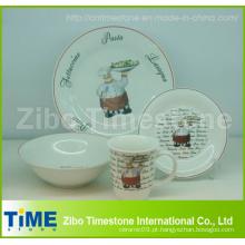 Porcelana 16 PC Dinner Set impresso com decalque (CD001)
