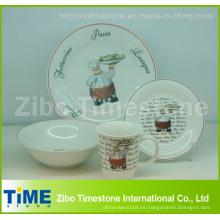 Juego de Cena de porcelana 16 para PC impreso con calcomanía (CD001)