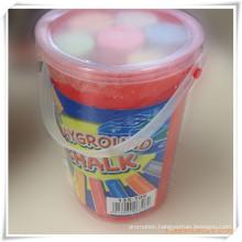 6PCS Jumbo/Sidewalk Chalk in a Barrel for Promotion