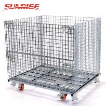 ¡Gran venta! contenedor de malla de alambre de almacenamiento de metal al por mayor apilable