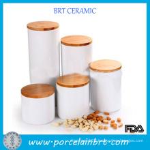 Wholesale Brief Kitchen Set Ceramic Jar with Lid