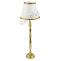 Miniature dollhouse floor lamp in button battery