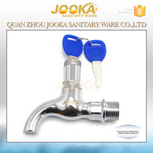 Outdoor water faucet with lock