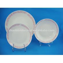 Ensemble de vaisselle en porcelaine fine en porcelaine 12pcs