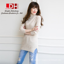 Ladies Fashion Long Spring Cashmere Knitted shirt Pullovers Girls Wool customize turtleneck knitwear