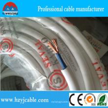 2 ядра подгонянный размер Rvv гибкий кабель PVC изоляция силовой кабель
