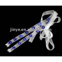 Flor de moda frisada cinta de sutiã de jóias