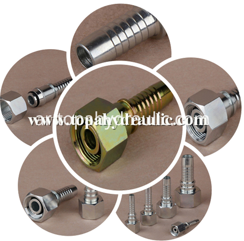 crimping Customized Bronze air hydraulic fittings