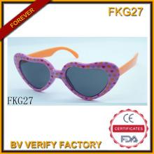 Óculos de sol de forma simples de amor para crianças (FKG27)