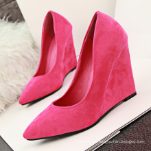 colorful red wedge heels/wedge heel for shoe making/pump wedge