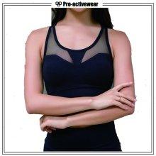 Пользовательские женщин полиэстер / Spandex сексуальный спортивный бюстгальтер йоги