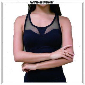 Custom Mulheres Poliéster / Spandex Sexy Sports Yoga Bra