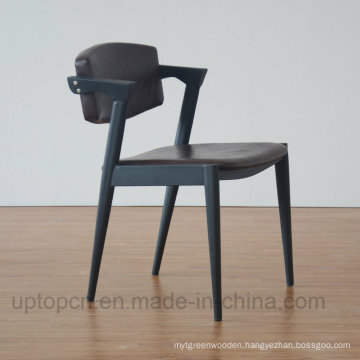 Cafe Solid Wood Leather Chair Restaurant Dining Chair (SP-EC848)